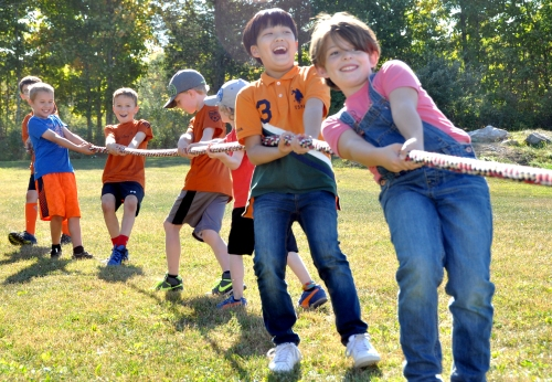 Tug of war at last Saturday's New Paltz Central School District's Foundation for Student Enhancement kids event at the Field of Dreams.